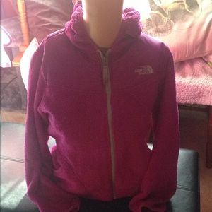 The North Face purple jacket with hood